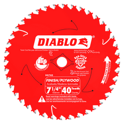 "carbide tipped circular saw blade,7-1/4"" circular blade for wood,finish blade,5/8"" Arbor,diamond knockout"