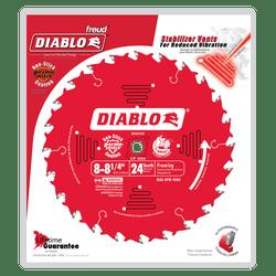 "carbide tipped circular saw blade,8-1/4"" circular blade for wood,framing blade,5/8"" Arbor,diamond knockout"