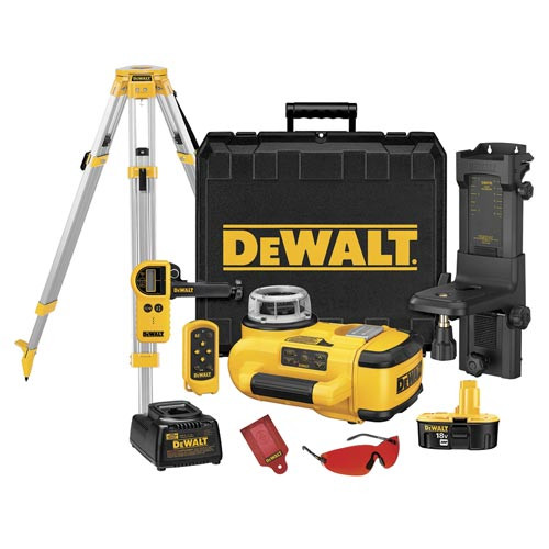 DeWalt 18V Self-Leveling Int/Ext Rotary Laser Package