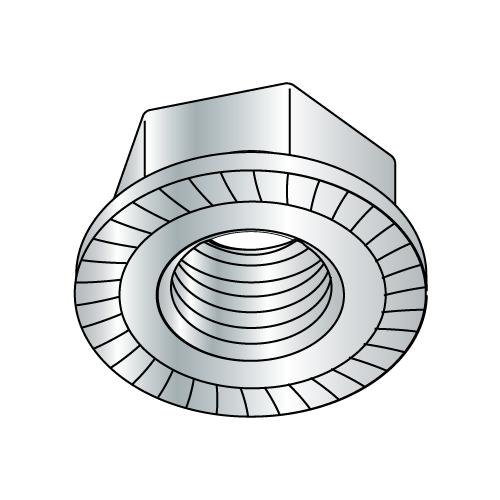 "1/4""-20 Whiz-lock Nut Zinc Plated (Box of 100)"