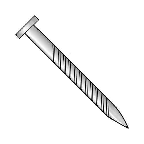 11 x 1 1/2 Flat Screw Nail Zinc Plated (100 per Box)