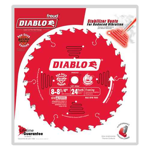 "carbide tipped circular saw blade,8-1/4"" circular blade for wood,framing blade,5/8"" Arbor,diamond knockout"