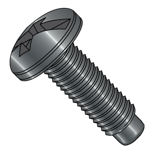 12-24 x 5/8 Relay Rack Screw with Pilot Point (Box of 100)