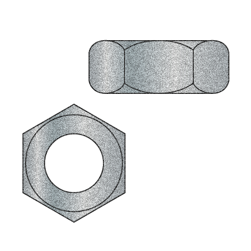 1-8 Hot Dip Galvanized Hex Nut (Box of 10)