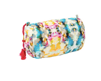 Small Indigo Girl Blue Quilted Cosmetic Bag