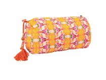 Small Flower Child Marigold Quilted Cosmetic Bag