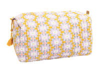 Large Chloe Lavender Quilted Cosmetic Bag