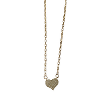 Pave Heart Connector Necklace