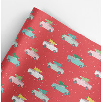 Holiday Trucks Christmas Gift Wrap Roll (3 sheets/roll)
