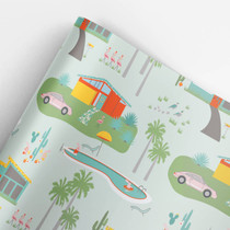 Palm Springs Christmas Gift Wrap Roll (3 sheets/roll)