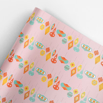 Palm Springs Ornaments Gift Wrap Roll (3 sheets/roll)