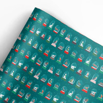 Snow Globes Gift Wrap Roll (3 sheets/roll)