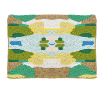 Coral Bay Green Beaded Clutch