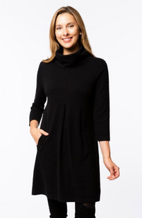 Black Kim Cowl Dress