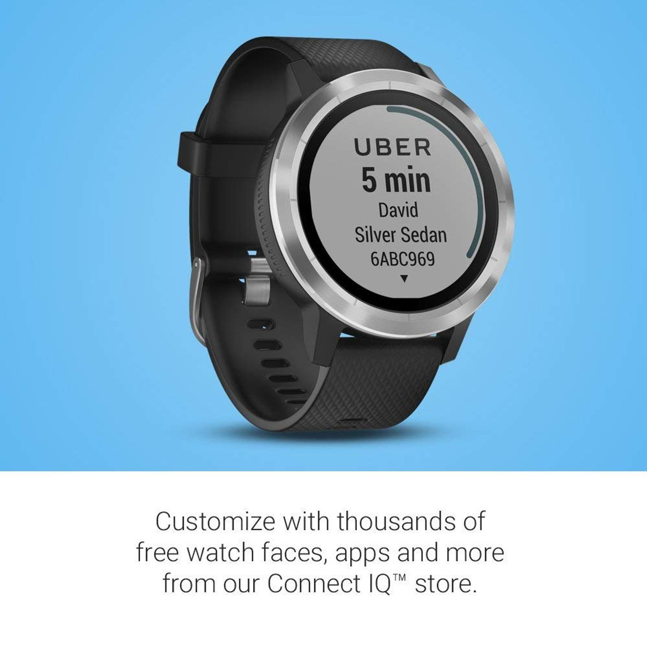 Garmin vivoactive 3, GPS Smartwatch with Contactless Payments and Builtin  Sports Apps, Black/Silver