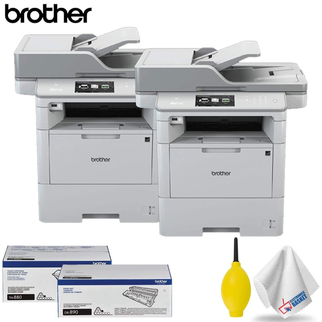Brother MFC-L6900DW Monochrome All-in-One Laser Printer Professional  Accessory Kit