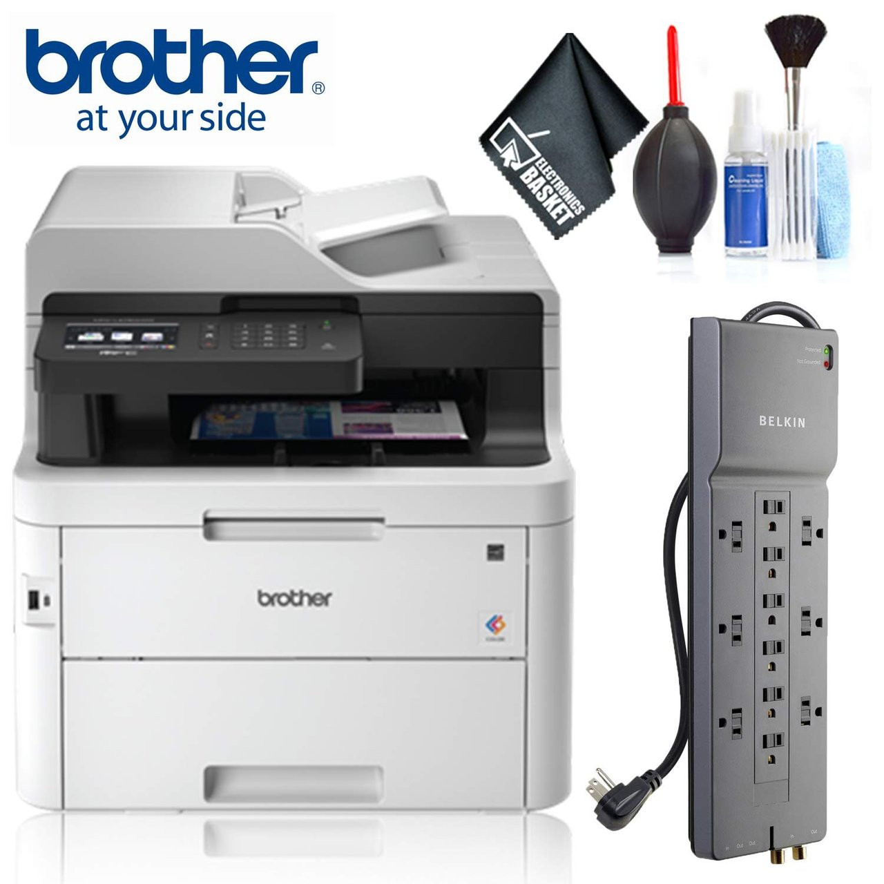 Brother MFC-L3750CDW Digital Color All-in-One Printer Plus Bundle