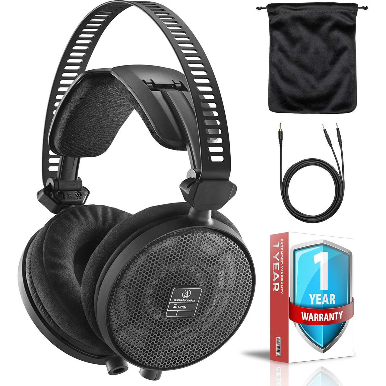 1664f8ff393 ATH-R70x Professional Open-Back Reference Headphones + Protective Carrying  Case with Extended Warranty - hhgregg
