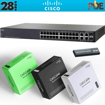 Cisco SG350-10MP 10-Port Gigabit PoE Managed Switch Kit