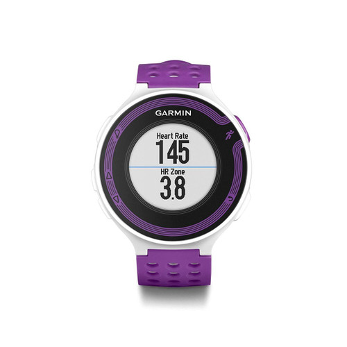 Garmin Forerunner 220 - White/Violet Bundle (Includes Heart Rate Monitor)