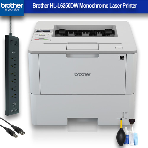Brother HL-L6250DW Monochrome Laser Printer (HL-L6250DW) Office Bundle