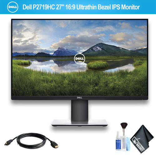 "Dell P2719HC USB-C 27"" 16:9 Ultrathin Bezel IPS Monitor With HDMI Cable"