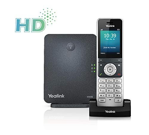 Yealink W60P Wireless DECT IP Cordless Phone with Universal Screen Cleaner
