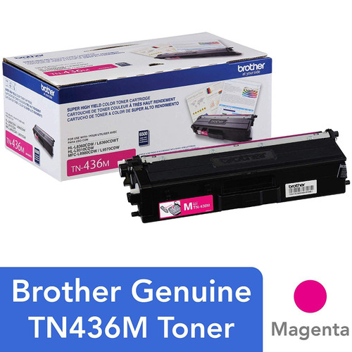 Brother Genuine Super High Yield Toner Cartridge, , Replacement Magenta Toner, Page Yield Up To 6,500 Pages