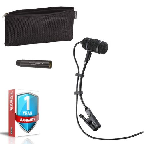 Audio-Technica Pro 35 Cardioid Clip-On Microphone - Includes - 1-Year Extended Warranty
