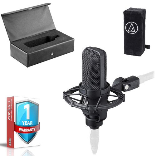 Audio-Technica AT4040 Studio Microphone - Includes - Shock Mount AND 1- Year Extended Warranty