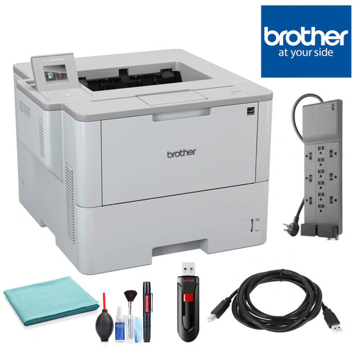 Brother Laser Printer with Wireless Networking, Duplex Printing and Large Paper Capacity with Belking Surge Protector, SANDISK Cruzer 16 GB USB Stick, High Speed 10 ft USB Printer Cable