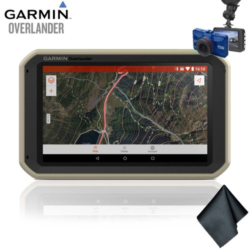 Garmin Overlander On/Off-Road Navigator + Dash Cam + Cleaning Cloth