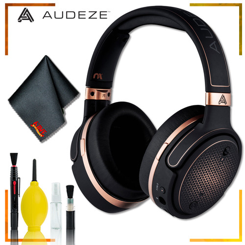 Audeze Mobius Planar Magnetic Gaming Headset (Copper) + GK300 Wireless Mechanical Gaming Keyboard (White) + GM300 Wireless Gaming Mouse + Headphone and Knuckel Signal Splitter + Cleaning Kit