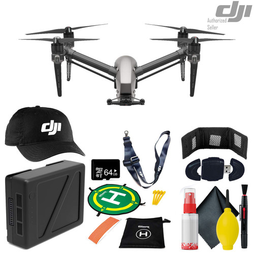 DJI Inspire 2 Quadcopter - TB50 Intelligent Flight Battery - DJI Baseball Cap & Lanyard - 64GB Micro SD - And More