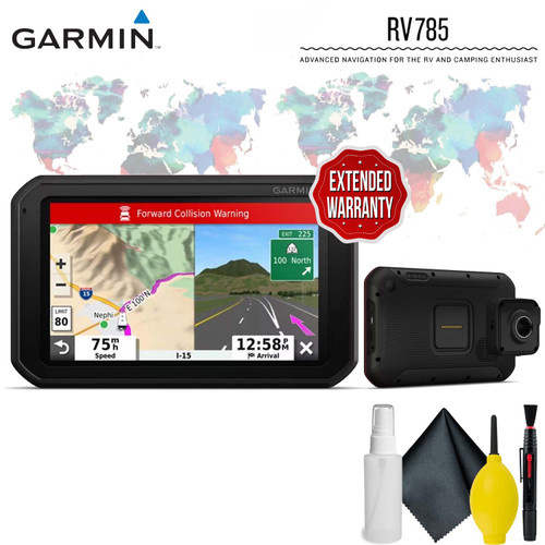 """Garmin RV 785 & Traffic, Advanced GPS Navigator for RVs with Built-in Dash Cam, 7"""" Touch Display and Voice-Activated Navigation Protective Accessory Kit"""