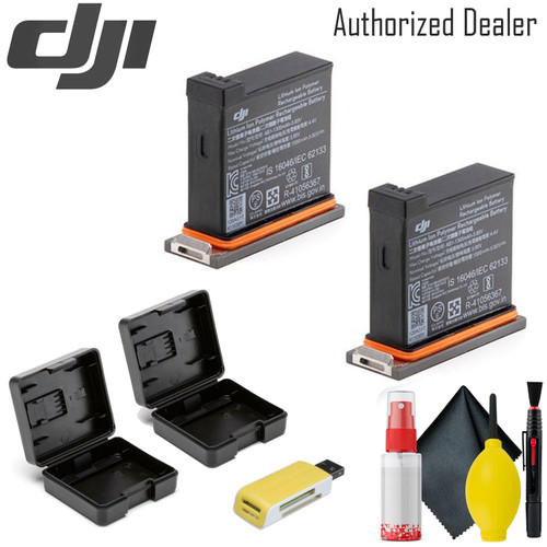 DJI Battery for Osmo Action Camera  x2 - USB Card Reader