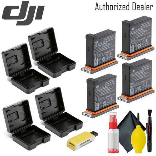 DJI Battery for Osmo Action Camera  x4 - USB Card Reader