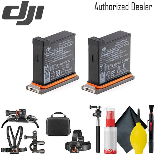 DJI Battery for Osmo Action Camera x2 - Card Reader - Mounting Kit