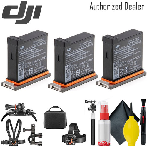 DJI Battery for Osmo Action Camera x3 - Card Reader - Mounting Kit
