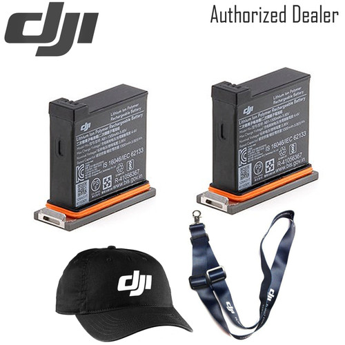 DJI Battery for Osmo Action Camera x2 - DJI Baseball Cap - DJI Lanyard