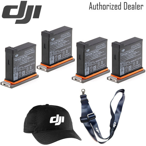 DJI Battery for Osmo Action Camera x4 - DJI Baseball Cap - DJI Lanyard