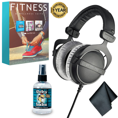 Beyerdynamic DT 770 PRO 80 Ohm Studio Headphone - Headphone Cleaner - Cleaning Cloth - 6 month Subscription Altair Weyv Yoga Vibes Daily Burn - 1 YEAR WARRANTY
