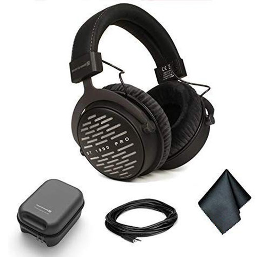 Beyerdynamic DT 1990 Pro Open-back 250 ohm Studio Reference Headphones - Kit with 25ft Extension Cable