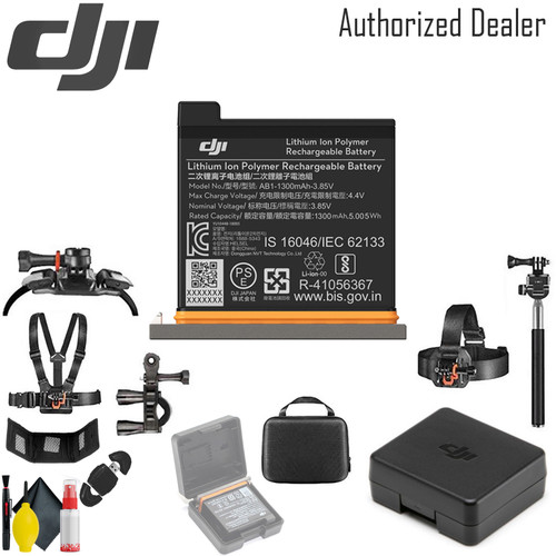 DJI Battery for Osmo Action Camera - Case Outdoor Action Camera Mounting Kit for GoPro and Other Cameras