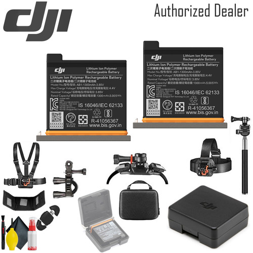 DJI Battery for Osmo Action Camera x2 - Case Outdoor Action Camera Mounting Kit for GoPro and Other Cameras
