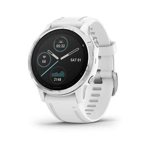 Garmin Fenix 6S, Premium Multisport GPS Watch, Smaller-Sized, Heat and Altitude Adjusted V02 Max, Pulse Ox Sensors and Training Load Focus, White