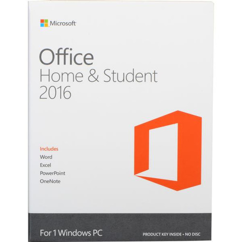 Microsoft Office Home & Student 2016 for Windows (1-User License  Product Key Code)