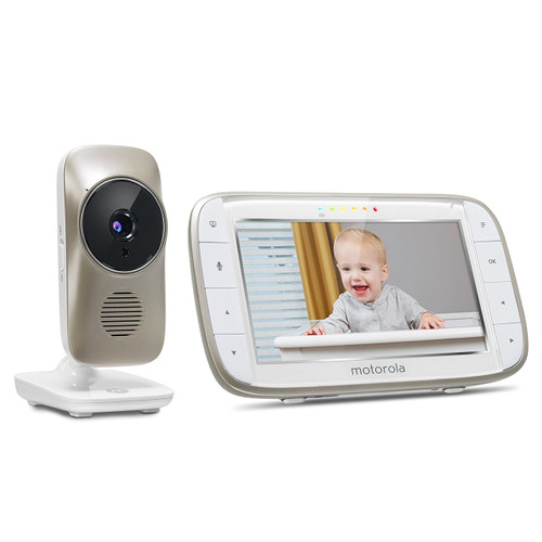 Motorola MBP845Connect Video Baby Monitor with Wi-Fi  5-Inch Color Screen  Digital Zoom  Two-Way Audio  Infrared Night Vision  and Room Tem