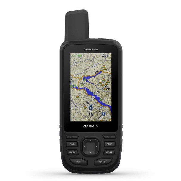 Garmin GPSMAP 66st, Handheld Hiking GPS with 3? Color Display, TOPO Maps and GPS/GLONASS/Galileo Support