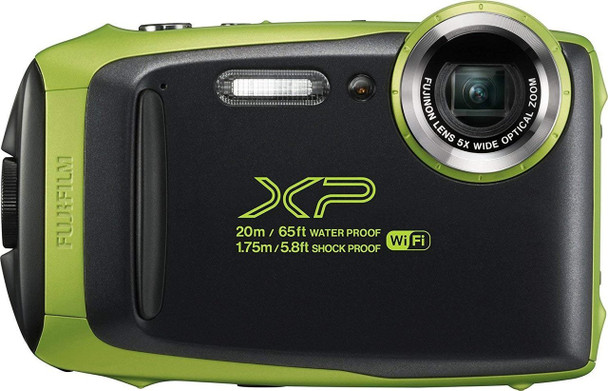 Fujifilm FinePix XP130 Waterproof Digital Camera w/16GB SD Card - Lime